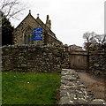 ST1379 : Eastern entrance to St John the Baptist church, Danescourt, Cardiff by Jaggery