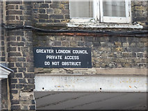 TQ3379 : Old Sign, Grange Road, London SE1 by Christine Matthews