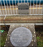 SS8591 : Maesteg railway station plaques by Jaggery
