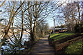 SJ4065 : Riverside walk, Queens Park, Chester by Jeff Buck