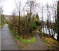 ST0789 : Junction of path and track on the Taff Trail, Pontypridd by Jaggery