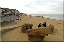 SZ1191 : The beach at Boscombe by Steve Daniels