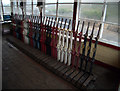 SC3775 : Levers in Douglas signal box by Richard Hoare