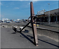 SY6878 : Old anchor near Weymouth Pavilion by Jaggery