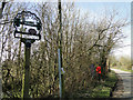 TM1861 : Winston village sign and postbox by Adrian S Pye