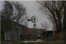 TF0684 : Windpump in a farmyard in Faldingworth by Chris