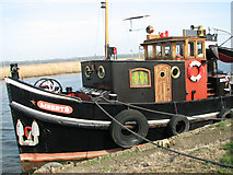 TG3504 : Dutch tug moored on the River Yare by Evelyn Simak