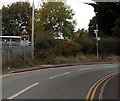 SJ5128 : STOP when lights show, Aston Road, Wem by Jaggery