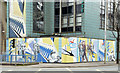 J3474 : Hoarding mural, Transport House, Belfast (March 2015) by Albert Bridge