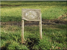 TM3071 : Boats Hall Farm sign by Adrian Cable