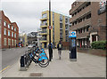 TQ3179 : Cycle docking station, Webber Street by Stephen Craven