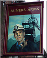 SJ9499 : Sign for the Miners Arms, Ashton-under-Lyne by JThomas