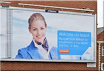 "J3674 : KLM ""Amsterdam"" poster, Belfast (March 2015) by Albert Bridge"