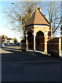 SU5766 : Victorian drinking fountain, Woolhampton by Adrian Cable