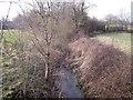 SK4132 : Thulston Brook upstream towards the village by Ian Calderwood
