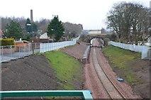 NT3364 : The Borders Railway and A7, Newtongrange by Jim Barton