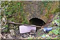 NT3365 : Culvert with tipped rubbish, B703 by Jim Barton