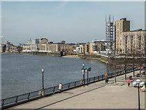 TQ3680 : River Thames, Canary Wharf, London E14 by Christine Matthews