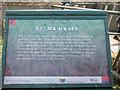 TQ3878 : Information Board regarding Ack Ack Gun, Mudchute  Farm, London E14 by Christine Matthews