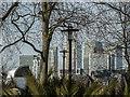 TQ3878 : Canary Wharf from, Island Gardens, London E14 by Christine Matthews