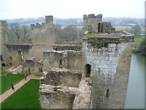 TQ7825 : Bodiam Castle from the North-western Tower by Marathon