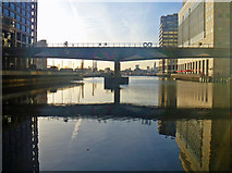 TQ3780 : DLR Bridge - Heron Quay by John Allan