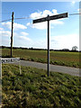 TM2283 : Roadsign & Cross Road sign by Geographer