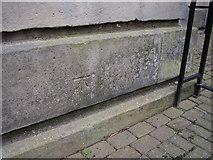 SK3436 : Bench mark on Vernon Gate by Shantavira