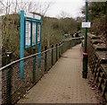 ST1478 : Information board alongside a path to Danescourt railway station, Cardiff by Jaggery