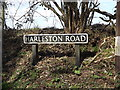 TM2082 : Harleston Road sign by Adrian Cable