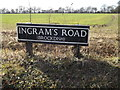TM2081 : Ingram's Road sign by Adrian Cable