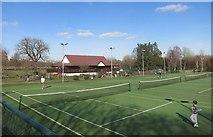 TQ2472 : Tennis in Wimbledon by Des Blenkinsopp