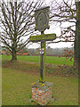 TL9848 : Chelsworth village sign by Adrian S Pye