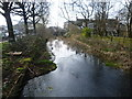 TQ3286 : The New River looking towards Green Lanes by Marathon