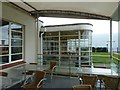 SP8267 : View along the veranda of the Aviator, Sywell by Rob Farrow