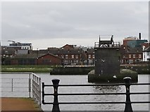 J3473 : The remnants of McConnell's Weir on the Lagan by Eric Jones