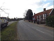 TM2281 : High Road, Needham by Adrian Cable