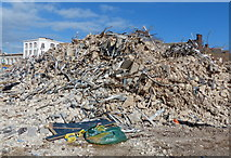 SK5804 : Huge pile of rubble at Welford Place by Mat Fascione