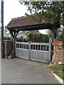 TM2381 : St.Peter's Church Lych Gate by Geographer