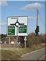 TM2382 : Roadsign on High Road by Adrian Cable