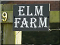 TM2382 : Elm Farm sign by Adrian Cable