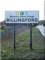 TM1678 : Billingford Village Name sign by Adrian Cable