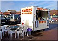 TF0920 : Market snack bar at Bourne, Lincolnshire by Rex Needle