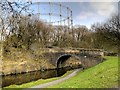 SD8436 : Leeds and Liverpool Canal, Clogger Bridge and Brierfield gasworks by David Dixon