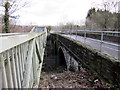 ST2999 : Gap between footbridge and road bridge, New Road, Pontypool by Jaggery