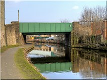 SD8538 : Leeds and Liverpool Canal, Seedhill Bridge by David Dixon