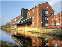 SD8538 : Warehouse on the Leeds and Liverpool Canal at Nelson by David Dixon