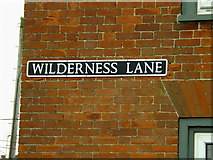 TM2482 : Wilderness Lane sign by Adrian Cable