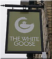 SE8048 : White Goose on Market Place, Pocklington by Ian S