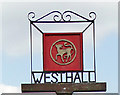 TM4081 : Westhall village sign by Adrian S Pye